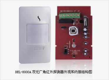 产品名称: bel-8000a双元广角红外探测器